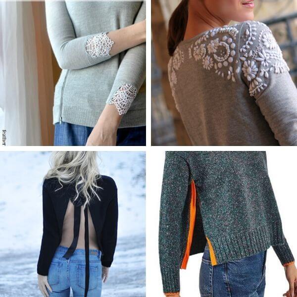 Sweater refashion ideas
