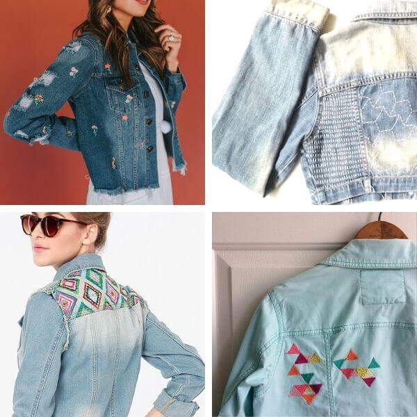 How to make denim jacket embroidery