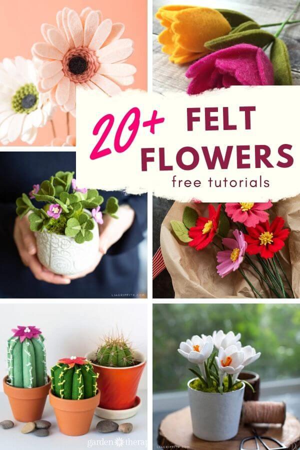 Felt flower patterns and tutorials