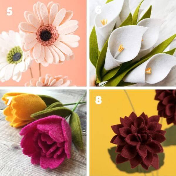 Felt flower tutorials and patterns