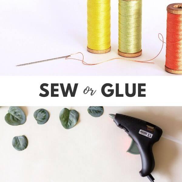 Sew or Glue felt crafts
