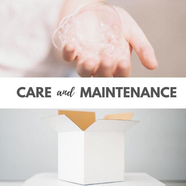 Felt crafts care and maintenance