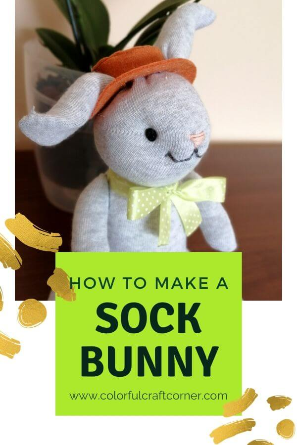 DIY sock rabbit