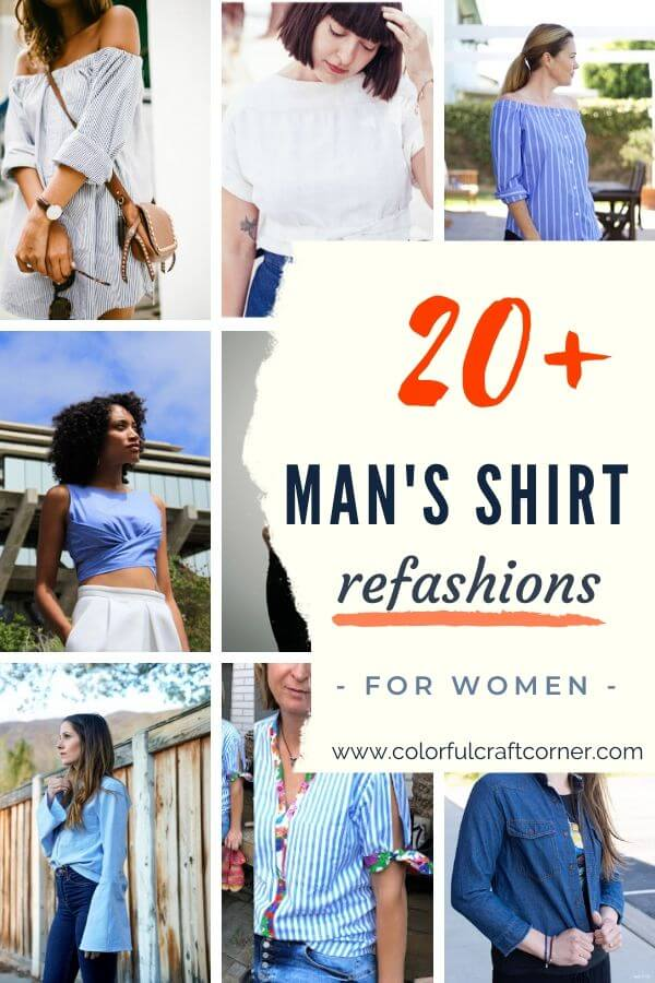 man's shirt upcycle ideas