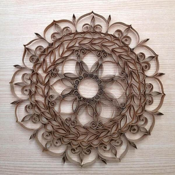 How to make a toilet paper roll mandala