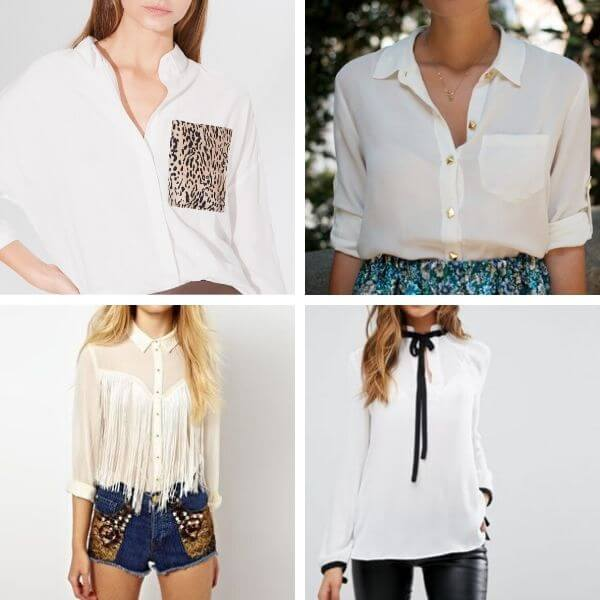 How to upcycle a white button up shirt