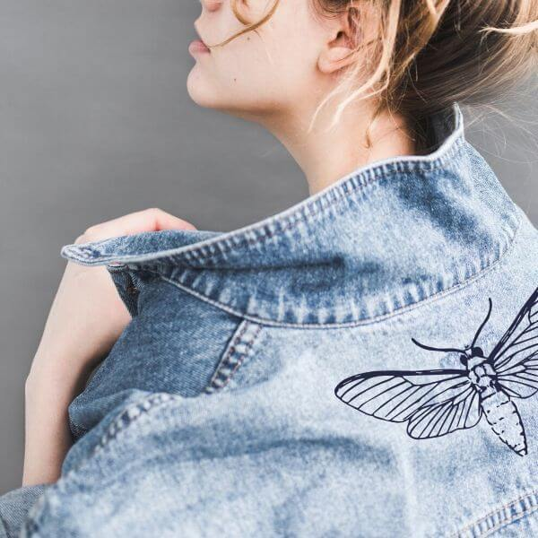 How to make an embroidered denim jacket