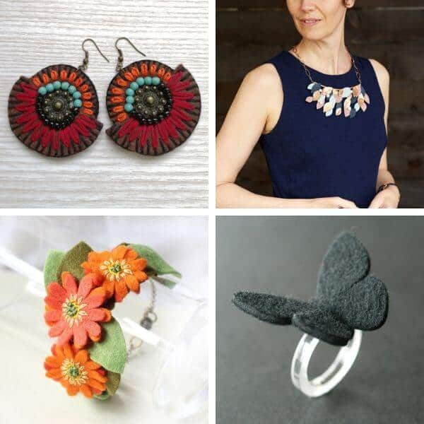 felt jewelry carft ideas