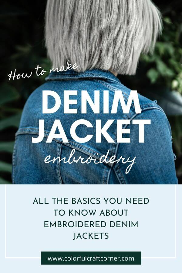 How to embroider denim jackets
