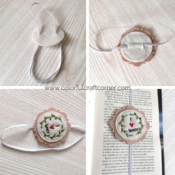 How to make a felt bookmark with embroidery