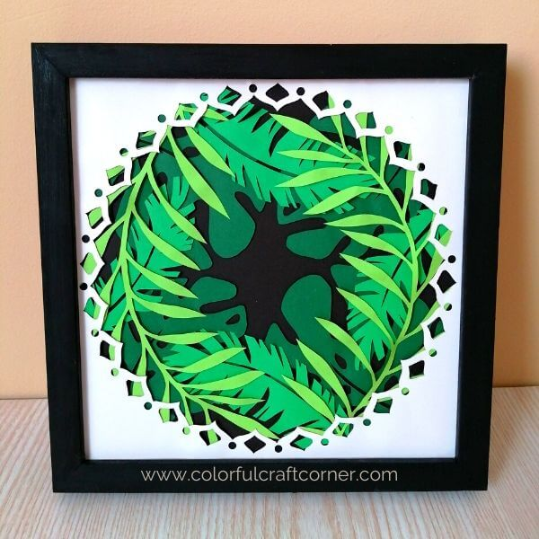How to make a Leaf Mandala wall art