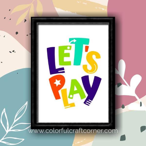 Free Playroom Printables