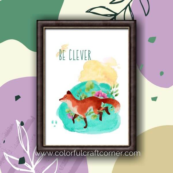 Watercolor Animal Digital Downloads