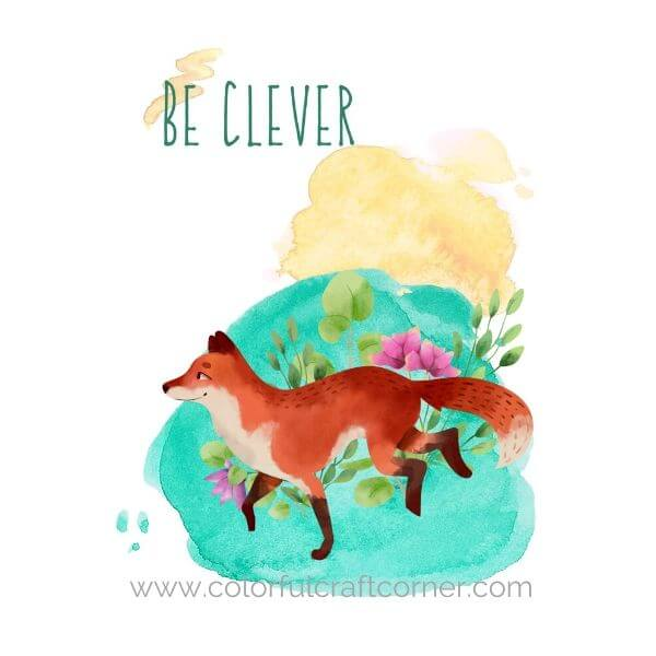 Watercolor Animal Printable Wall Decor