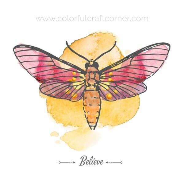 Watercolor Insect Digital Downloads