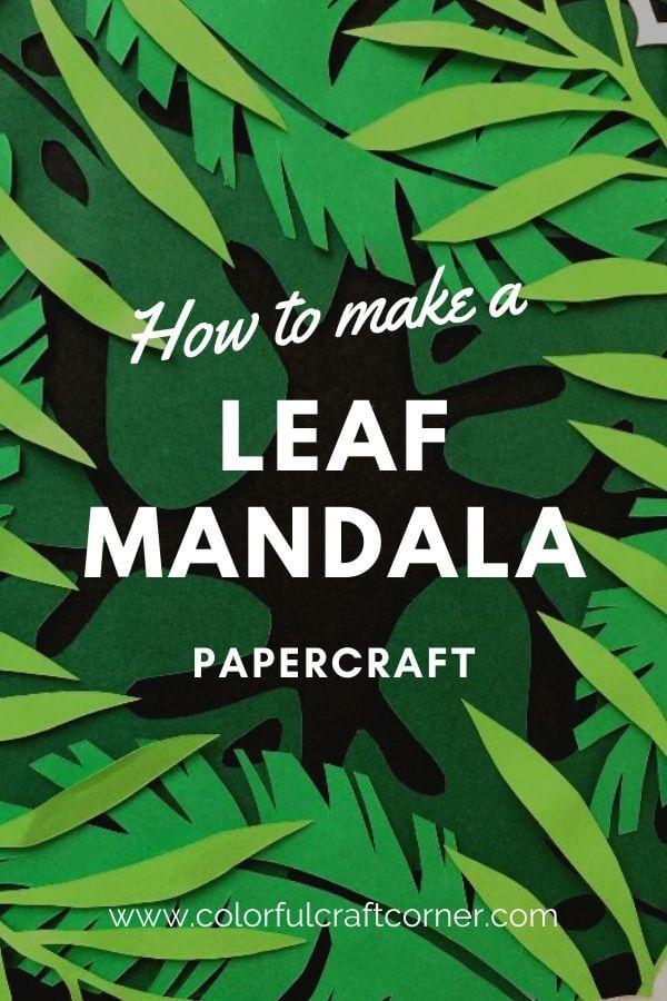 DIY Leaf Mandala Wall Art