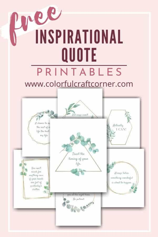Free Inspirational Quote Printable Art