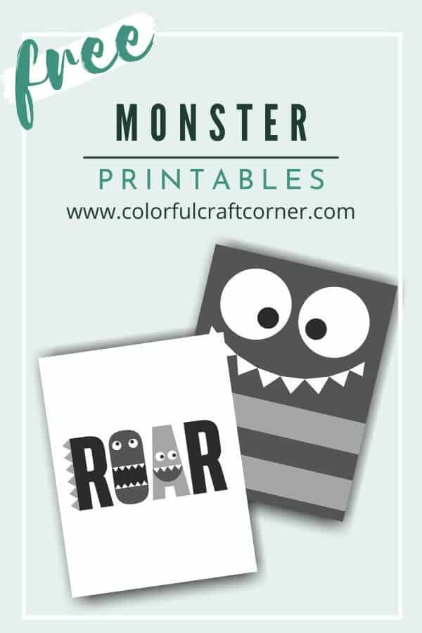 Children's room Monster Printable Wall Art