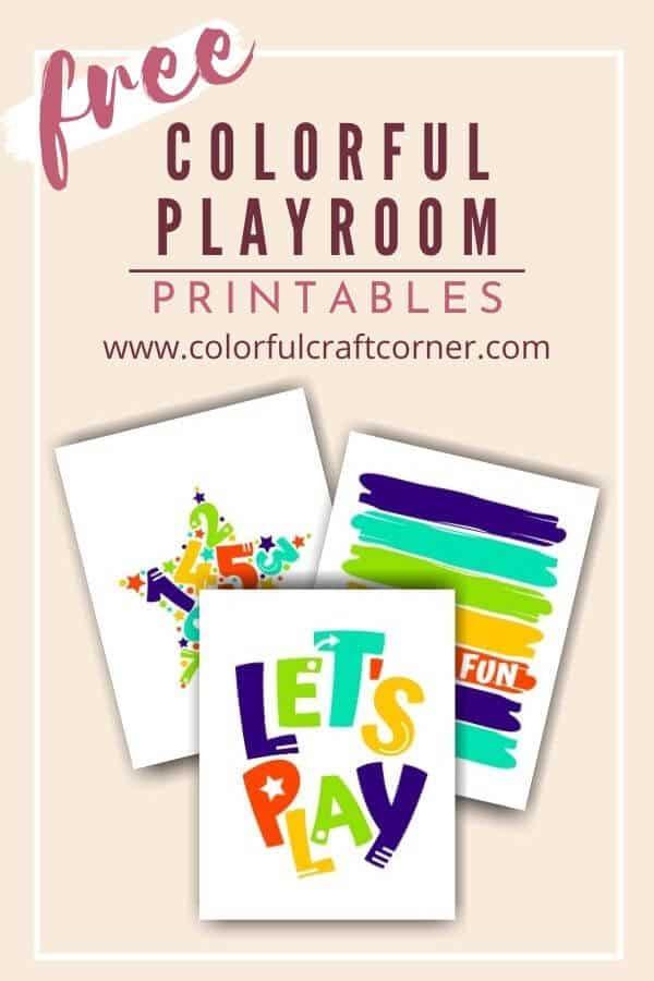 Free Playroom Printable Wall Art