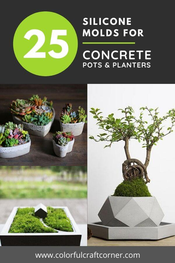 DIY cement pots with silicone molds