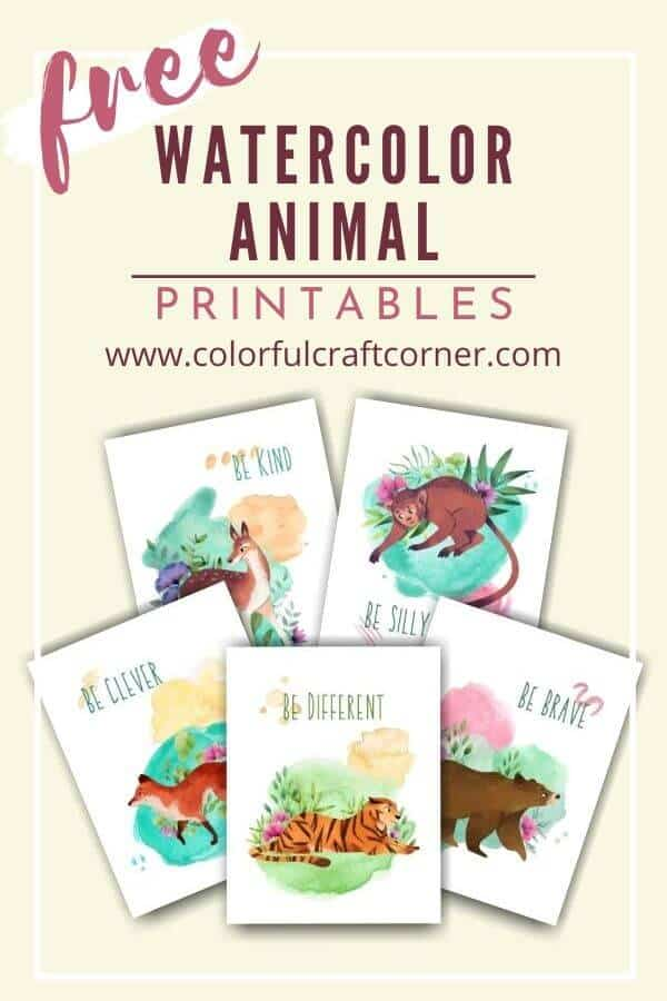 Free Watercolor Animal Printable wall art