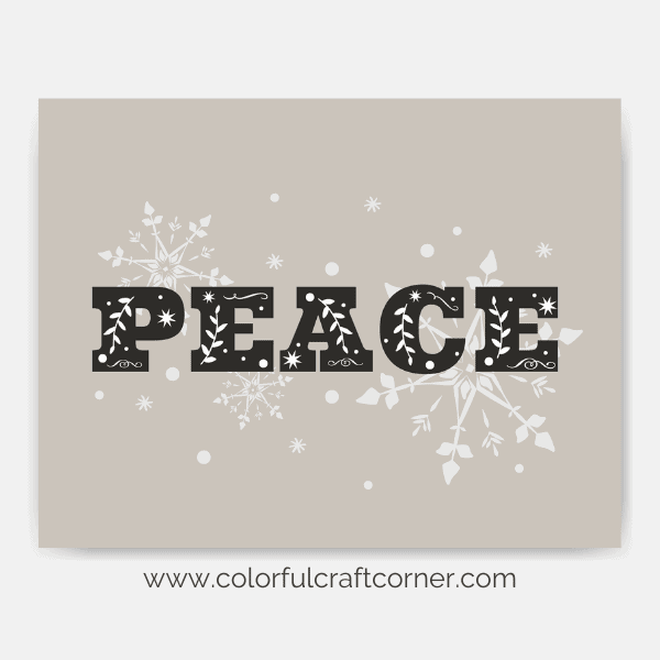 Free Christmas printable wall art