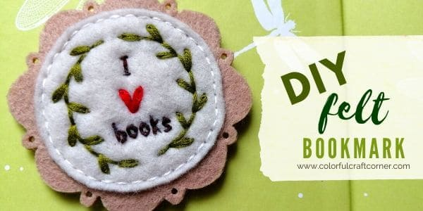 How to make a felt bookmark