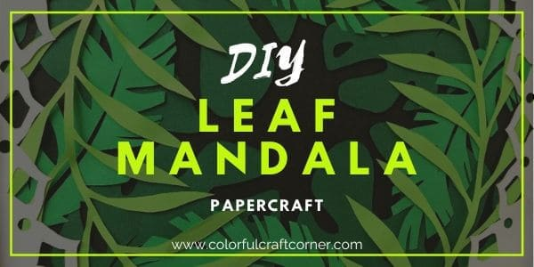 How to make a leaf mandala wall art (1)