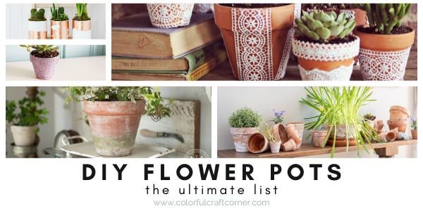 Easy flower planter DIYs and crafts