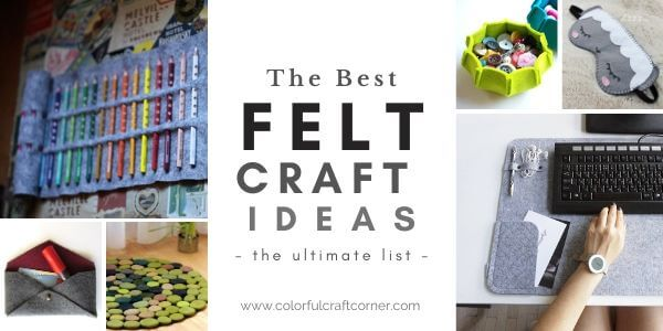 Easy DIY felt craft projects