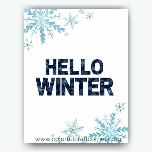 Free Winter Printable Wall Decor