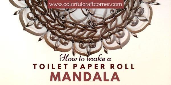 DIY paper tube mandala wall art