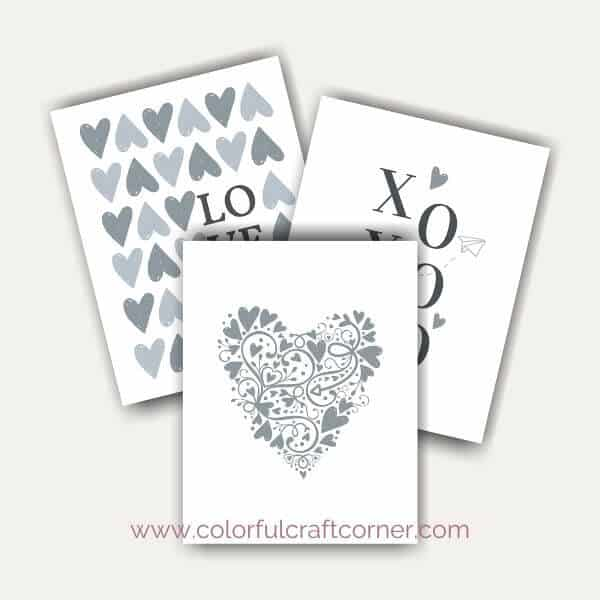 Grey Valentine Printables