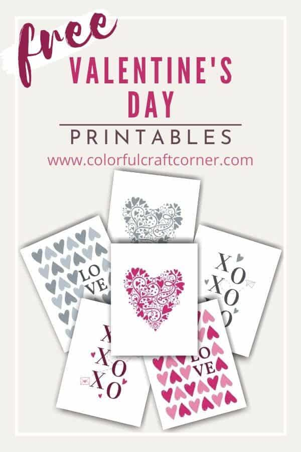 Free printable Valentine's day Wall Art
