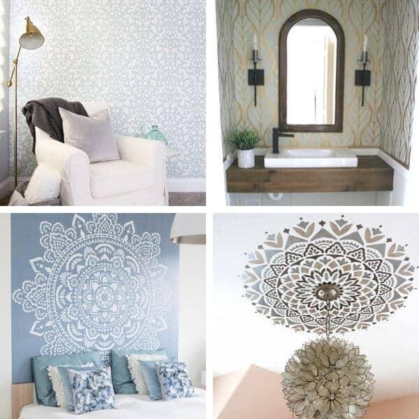 Wall stencil design ideas