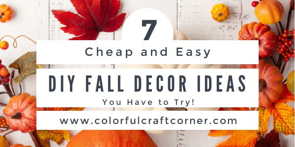 DIY fall home decor ideas
