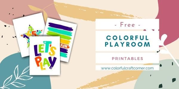 Colorful Playroom printable wall art