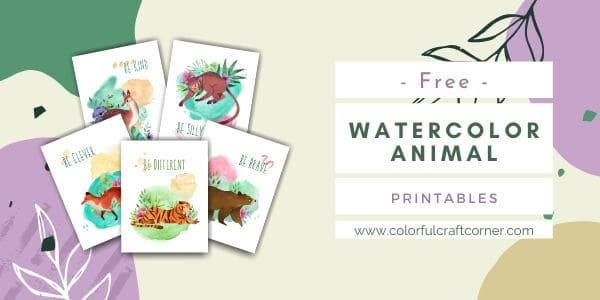 Watercolor Animal Printable Wall Art