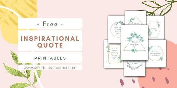 Inspirational Quote Printable Wall Art