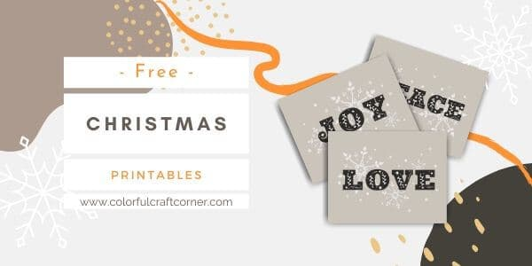 Christmas printables art free