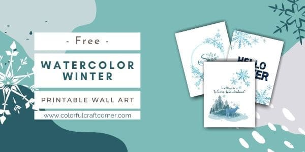 watercolor winter printables