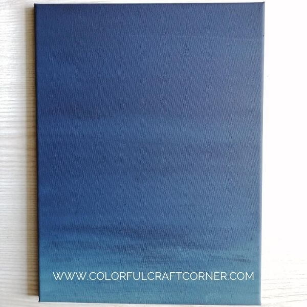 Ombre painted canvas