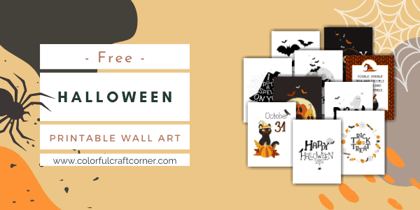 Free Halloween Printable Wall Art