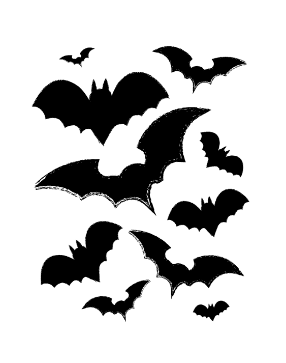 Black bats print