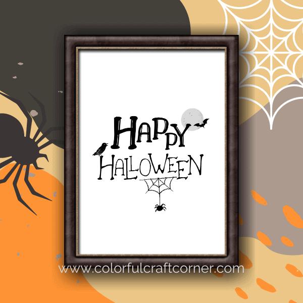 Happy Halloween printable design