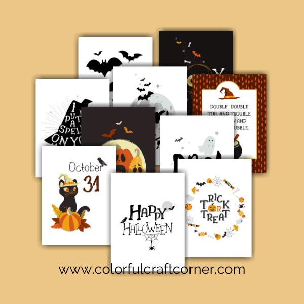 Halloween printable bundle