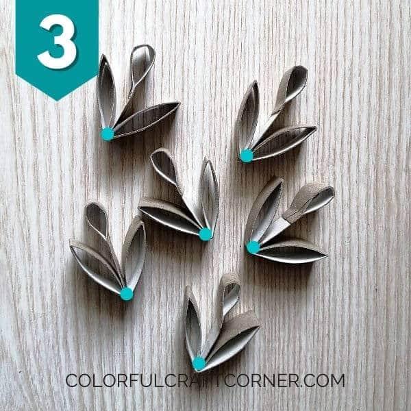 Paper tube ornament elements