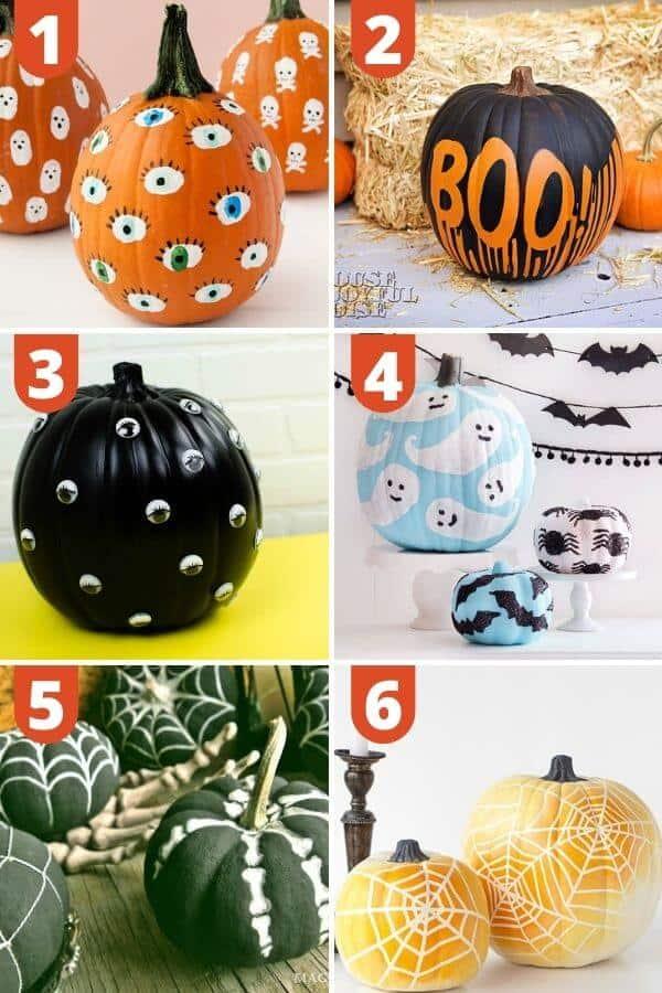 Halloween Pumpkin Painting Ideas