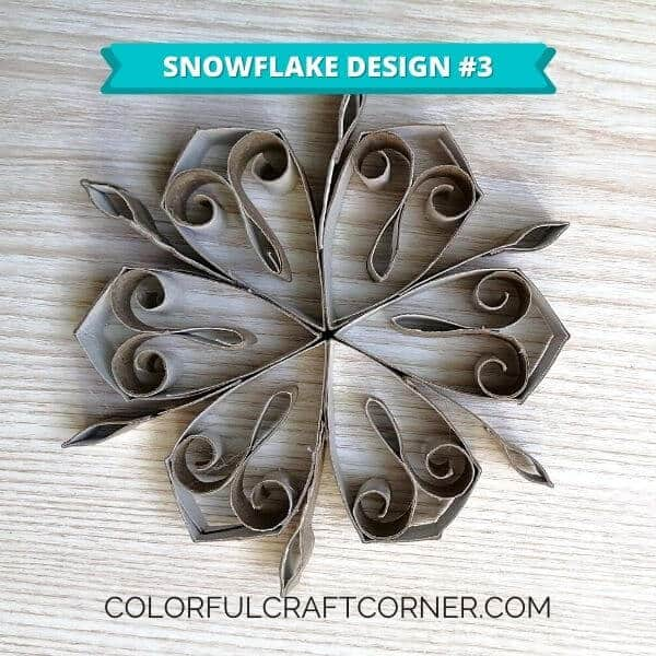 DIY Snowflake from paper tubes