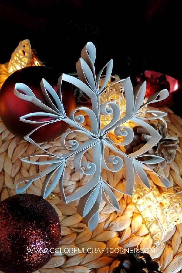 DIY snowflake ornament